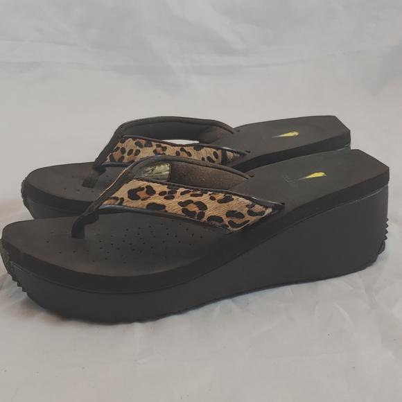 Volatile Leopard Calf Hair Sandals
